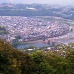 岩国城より錦帯橋
